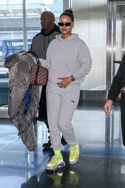 Rihanna JFK Airport New York 2018 Vetements Alpha Industries Balenciaga Triple-S Palace Dior