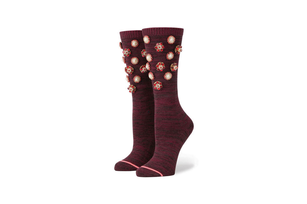 Rihanna Stance Cold Hearted Socks Wine
