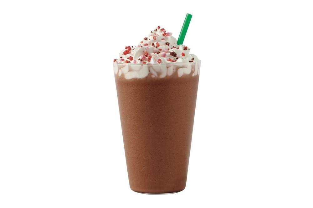 Starbucks Pink Cherry Mocha Valentine's Day Drink Beverage Frappuchino