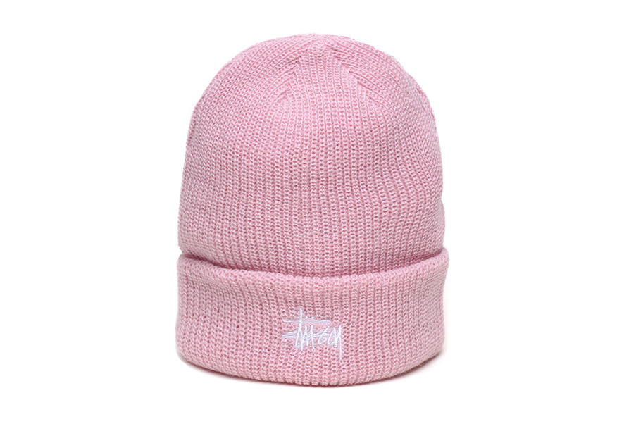Stussy womens mens unisex hats beanies pastel millennial pink peach mint green logo where to buy