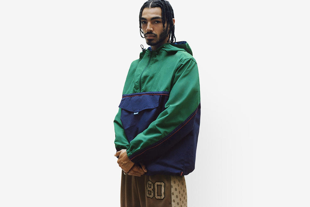 Supreme Spring/Summer 2018 Collection Lookbook Hoodie Green Blue