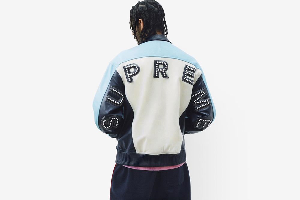 Supreme Spring/Summer 2018 Collection Lookbook Jacket White Blue