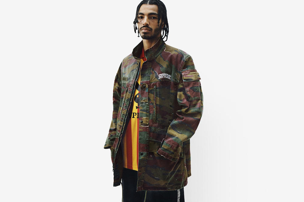 Supreme Spring/Summer 2018 Collection Lookbook Jacket Camo