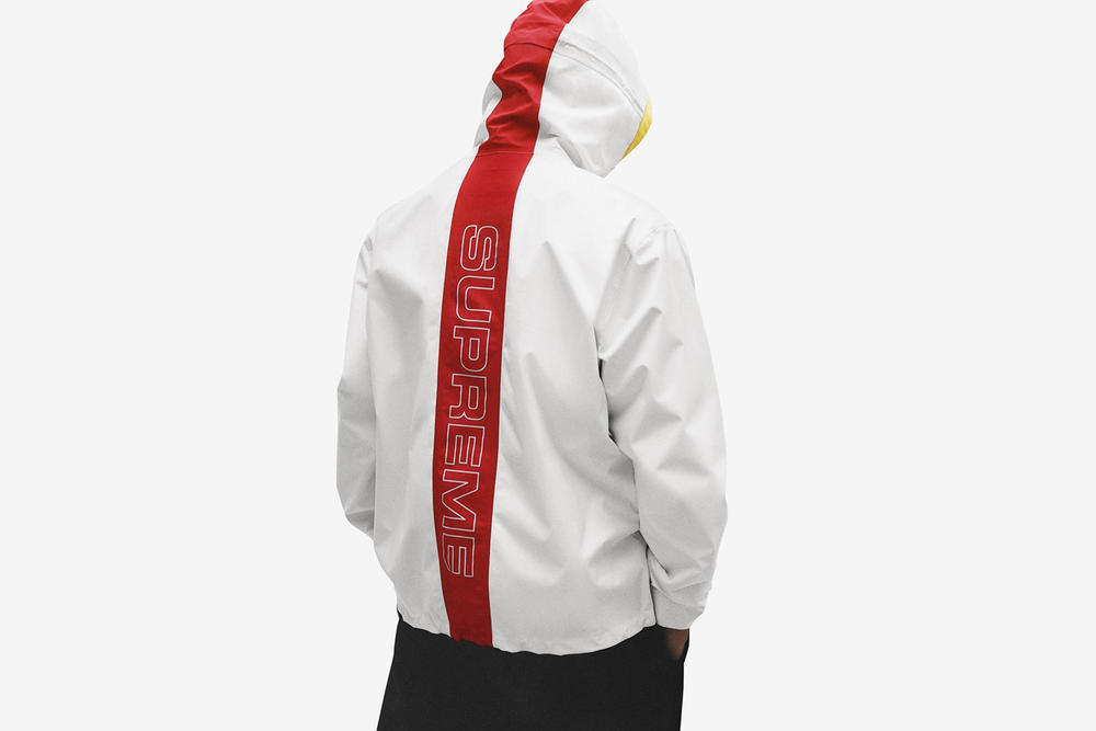 Supreme Spring/Summer 2018 Collection Lookbook Jacket White Red