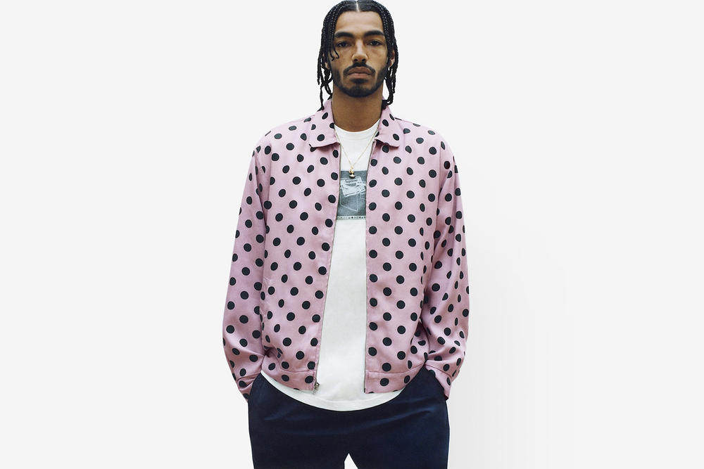 Supreme Spring/Summer 2018 Collection Lookbook Polka Dot Jacket Pink