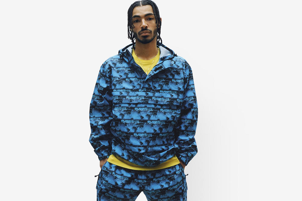 Supreme Spring/Summer 2018 Collection Lookbook Graphic Hoodie Blue