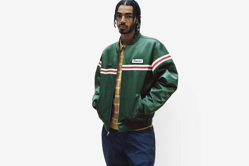 Supreme Spring/Summer 2018 Collection Lookbook Jacket Green