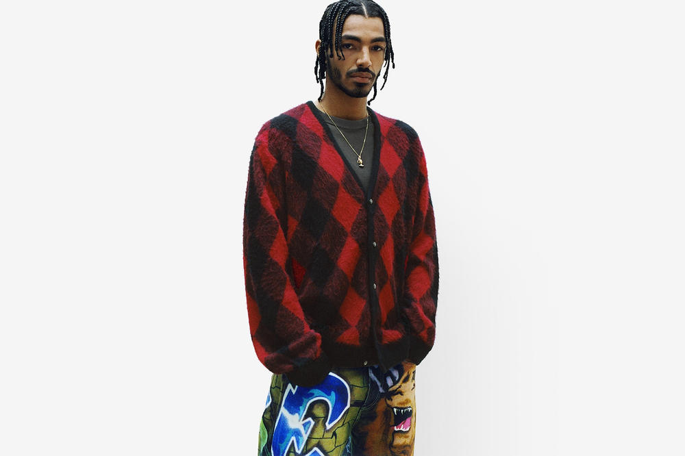 Supreme Spring/Summer 2018 Collection Lookbook Cardigan Red Black
