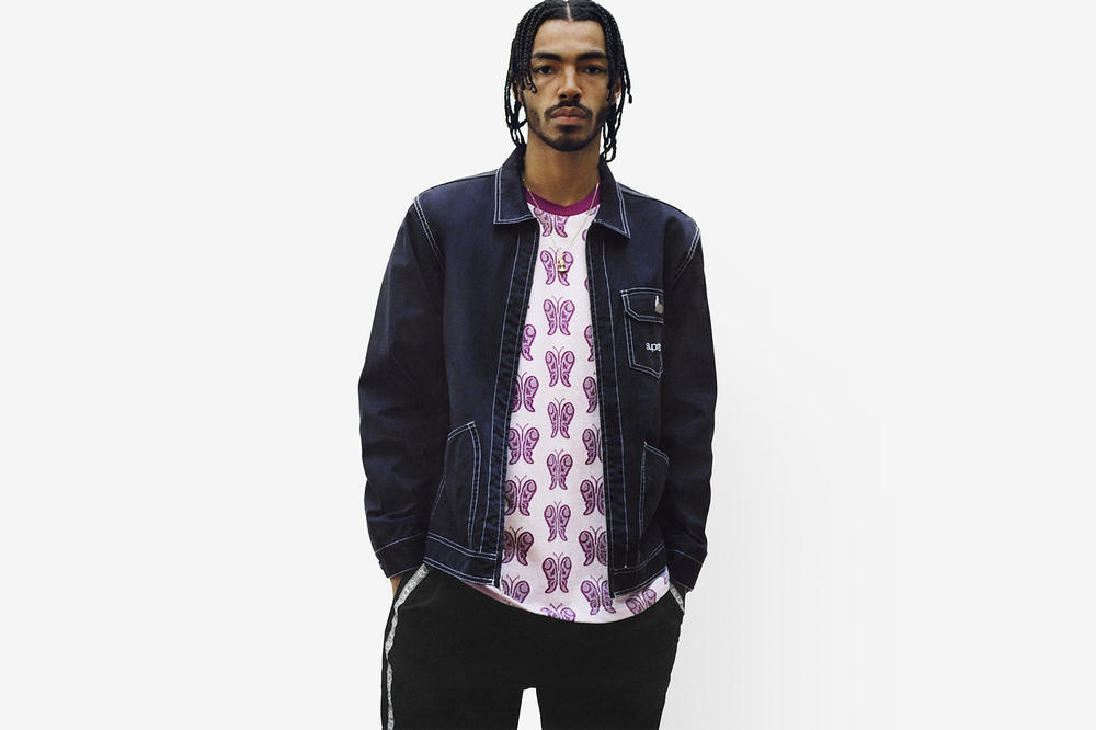 Supreme Spring/Summer 2018 Collection Lookbook Collared Jacket Blue
