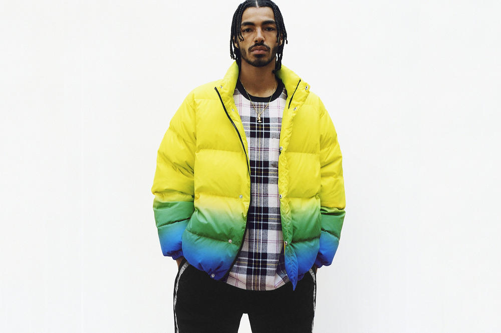 Supreme Spring/Summer 2018 Collection Lookbook Puffer Coat Yellow