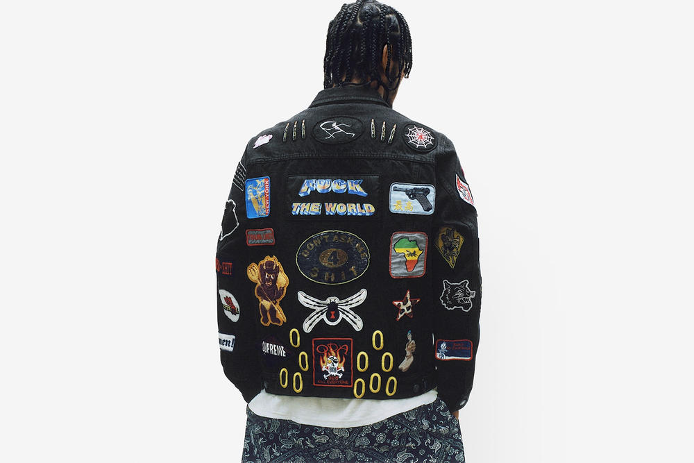 Supreme Spring/Summer 2018 Collection Lookbook Embroidered Jacket Black