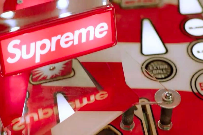 Supreme Stern Pinball Machine Spring Summer 2018 Collection Collaboration Red White Box Logo Video