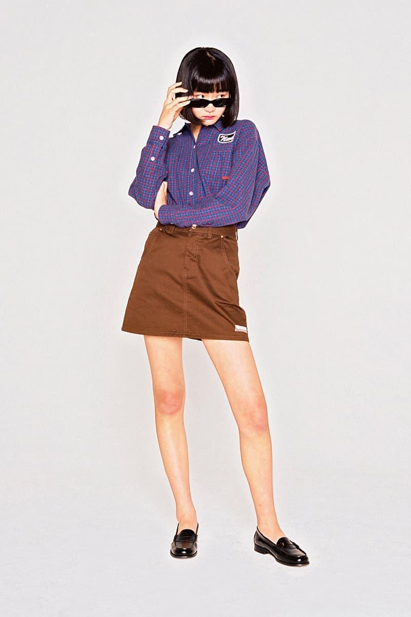thisisneverthat Spring/Summer 2018 Lookbook Plaid Collared Shirt Skirt Brown