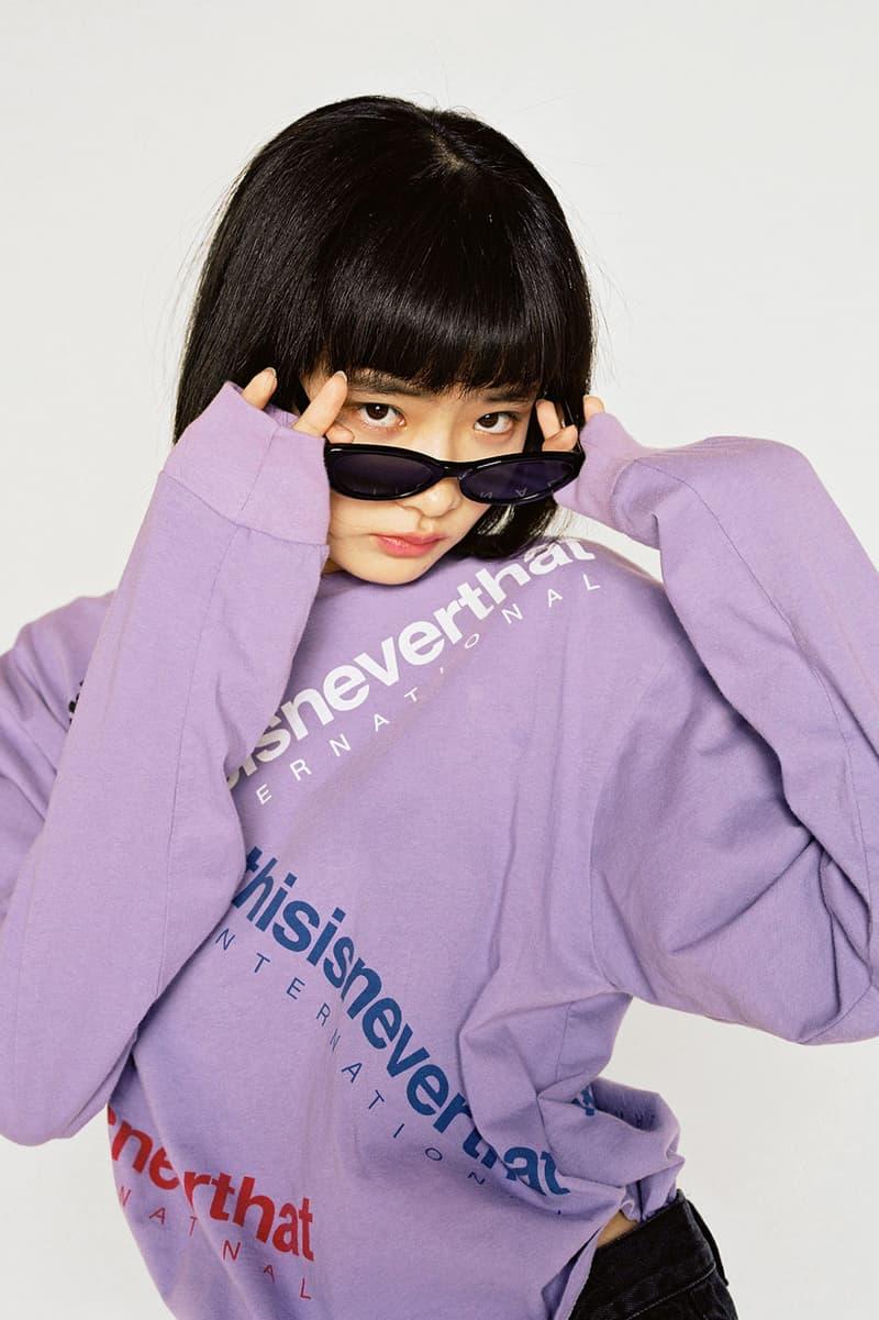 thisisneverthat Spring/Summer 2018 Lookbook Pullover Purple Cat Eye Sunglasses Black
