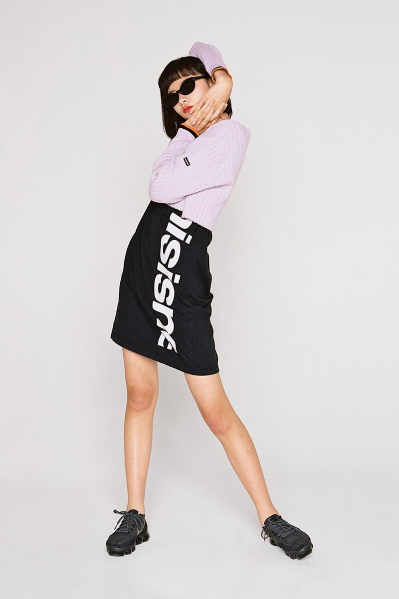 thisisneverthat Spring/Summer 2018 Lookbook Skirt Black Long Sleeved Shirt Purple