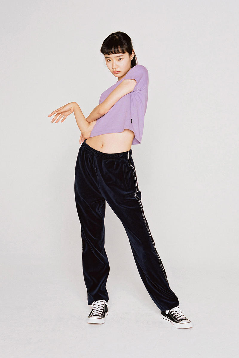 thisisneverthat Spring/Summer 2018 Lookbook Pants Black T-Shirt Purple