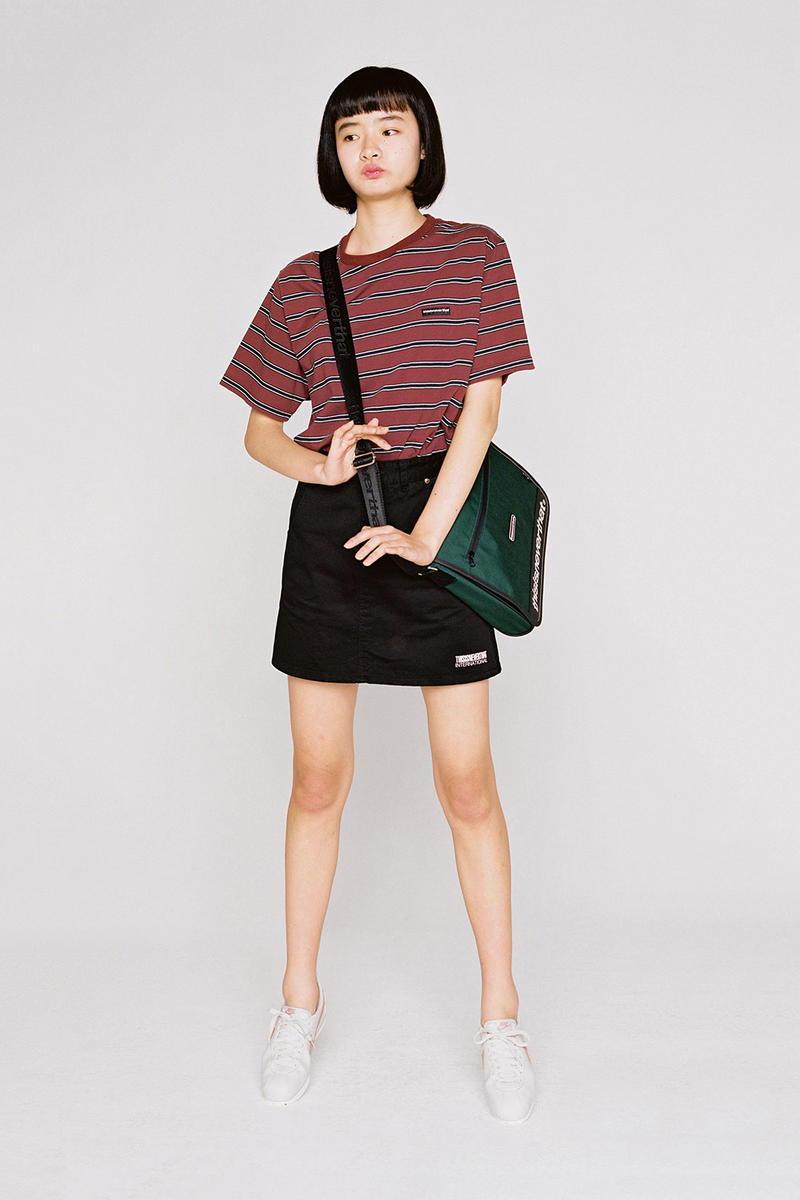 thisisneverthat Spring/Summer 2018 Lookbook Striped Shirt Red Skirt Black