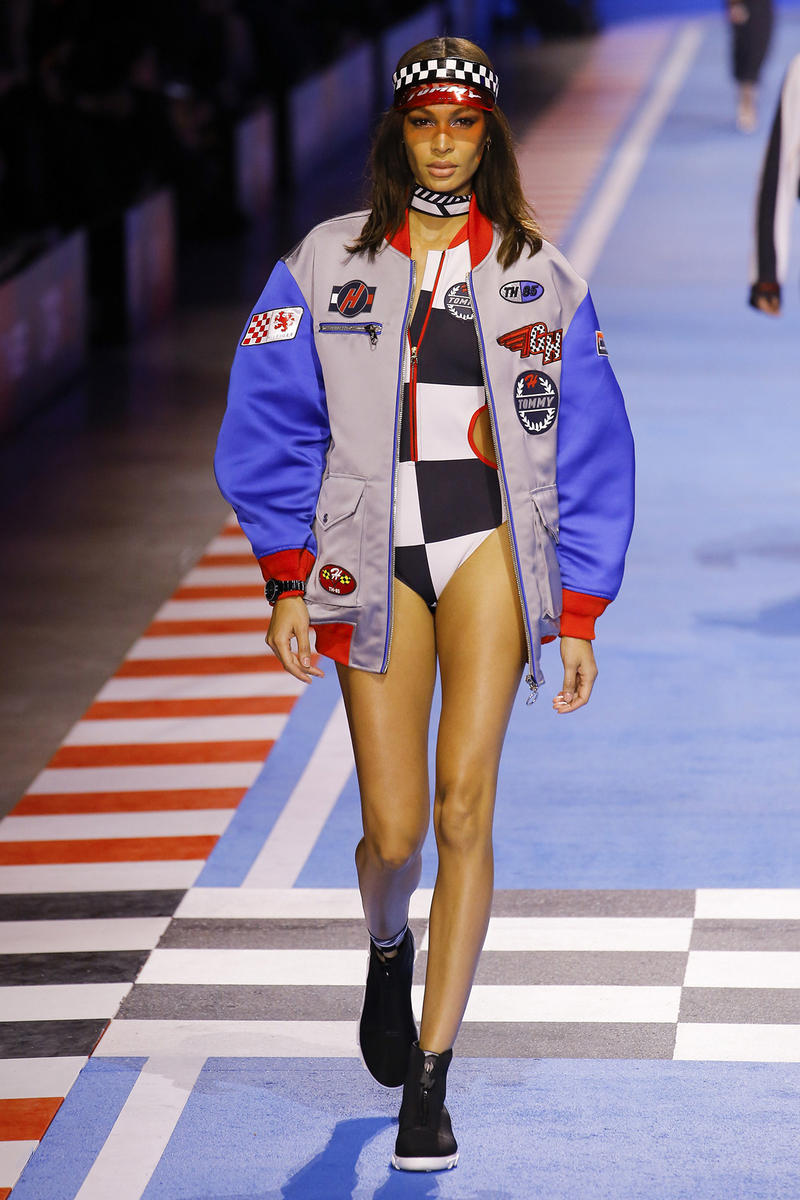 Joan Smalls Tommy Hilfiger Spring 2018 Milan Fashion Week Show Collection