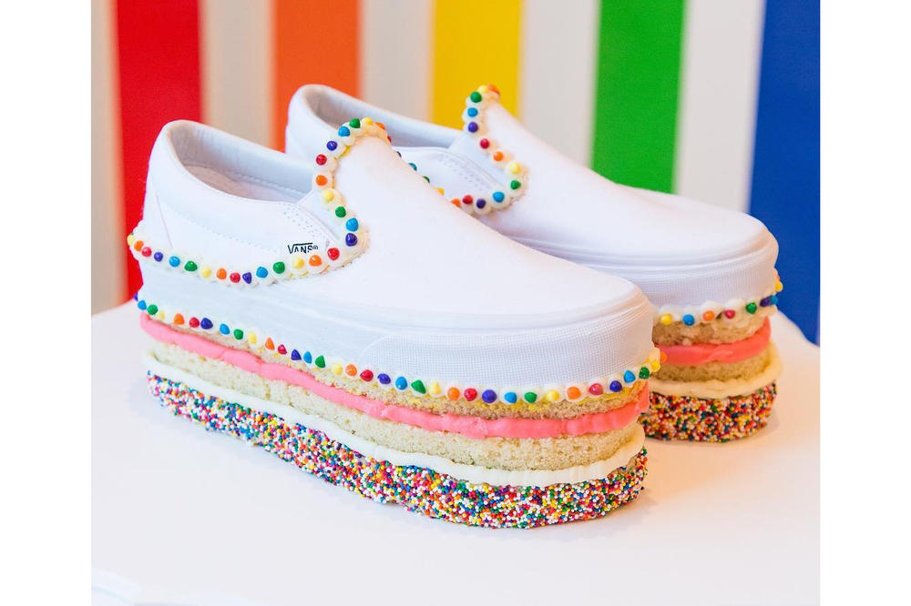bc3e9c911e Vans Culture Ambassador Program Custom Shoes Slip On DIY Design Cake One of  a Kind