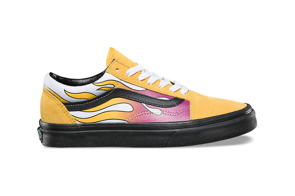 31640c9d6ed Vans old skool flame pack banana yellow black purple mens womens unisex