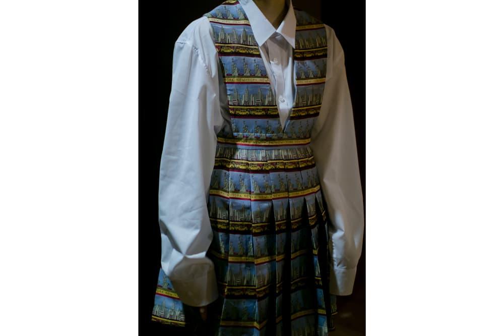 Vaquera Fall 2018 Collection Collared Shirt Brocade Dress White