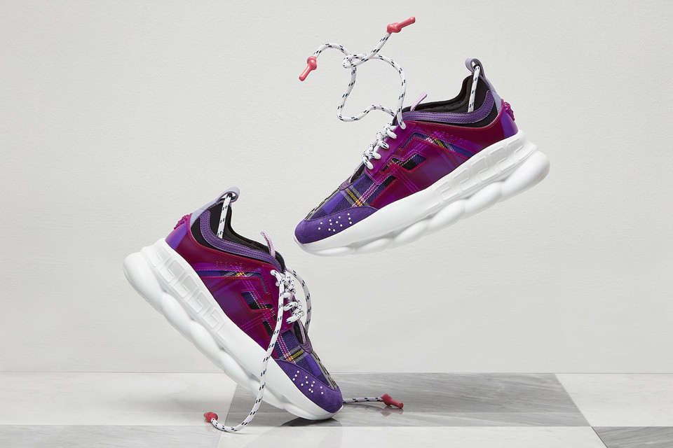 341483eb83b56b Your First Look at Versace s Chain Reaction Sneaker For Women
