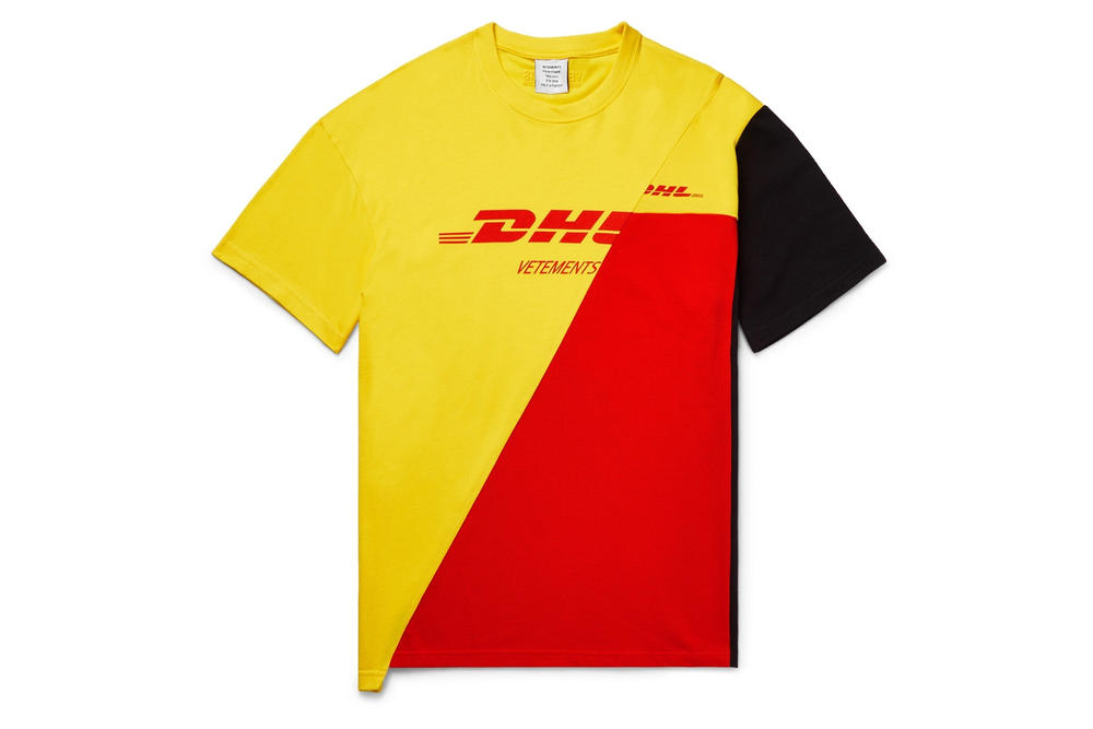 Vetements DHL Spring Summer 2018 Capsule Collection T-shirt Yellow Red Black