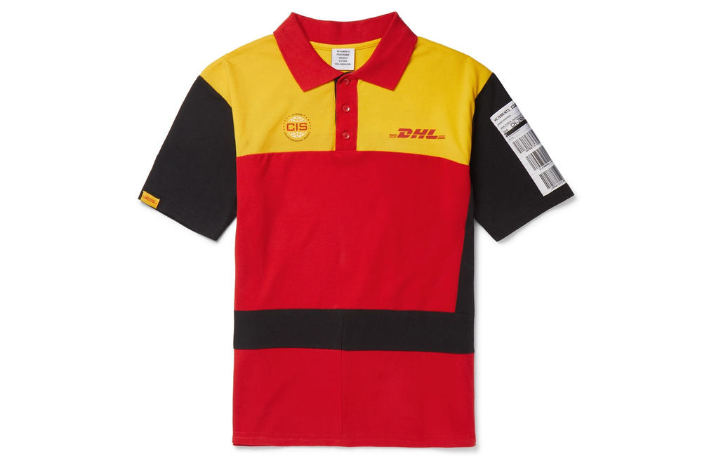 Vetements DHL Spring Summer 2018 Capsule Collection Polo Shirt Yellow Red Black
