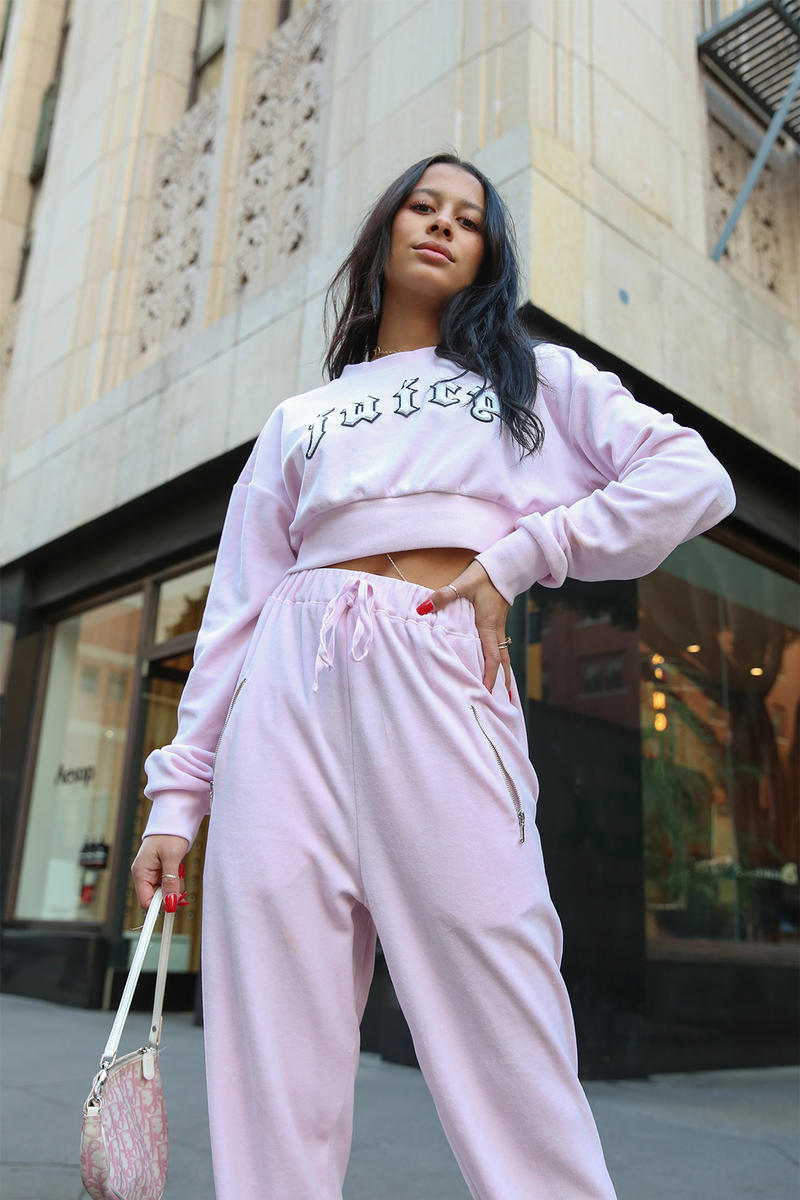 Vfiles Juicy Couture Collection Sami Miro collaboration velour tracksuit bomber jacket t-shirt track pants