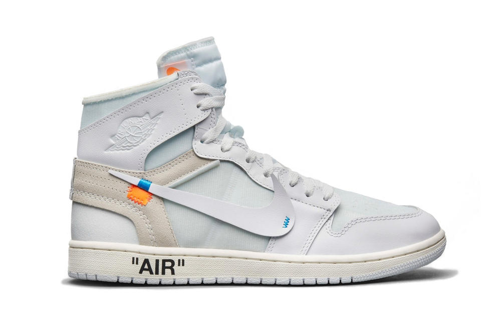 "Where to Buy Virgil Abloh x Air Jordan 1 ""White"" Sneaker Nike Collaboration Blue Mint Store List Raffle Size"