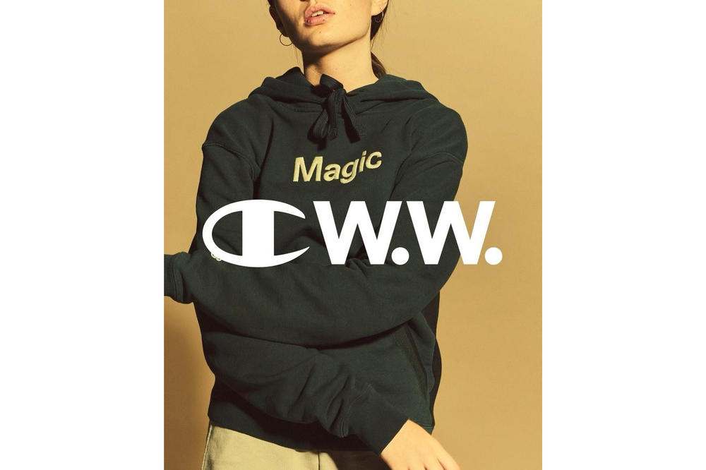 Champion by Wood Wood Spring Summer 2018 Collaboration Collection First Look Magic Green Sweater Hoodie