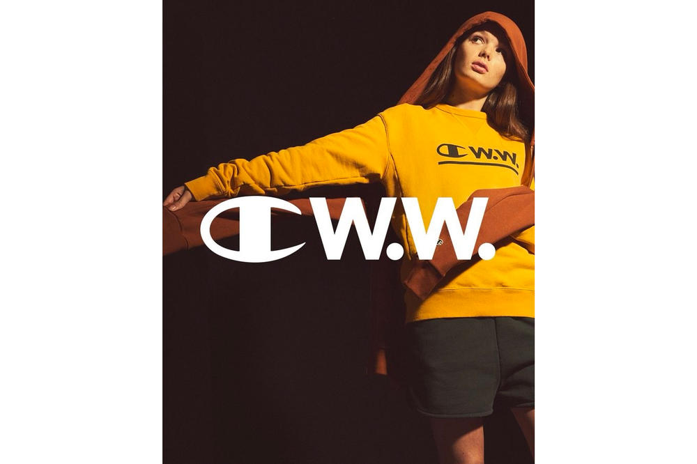 Champion by Wood Wood Spring Summer 2018 Collaboration Collection First Look Yellow Sweatshirt