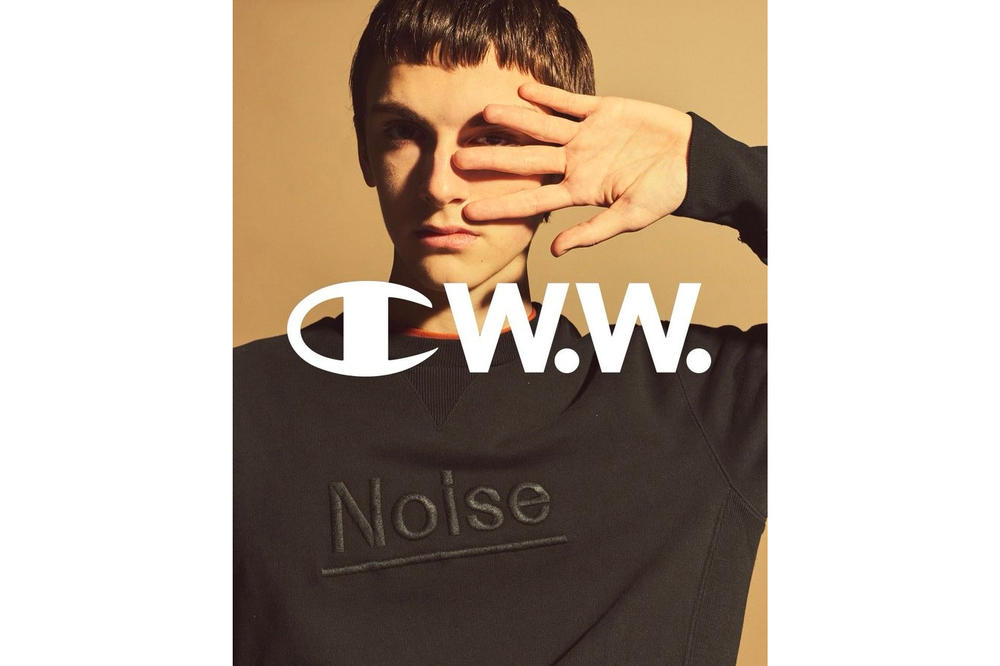 Champion by Wood Wood Spring Summer 2018 Collaboration Collection First Look Noise Black Sweater