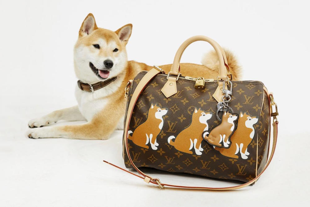 5d15b4e972f0 Dog Shiba Inu Louis Vuitton Bag Kim Jones Keychain Keyring Personalization  Patch