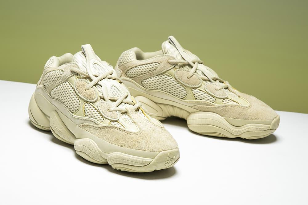 YEEZY desert rat 500 super moon yellow sneakers adidas where to buy stadium goods