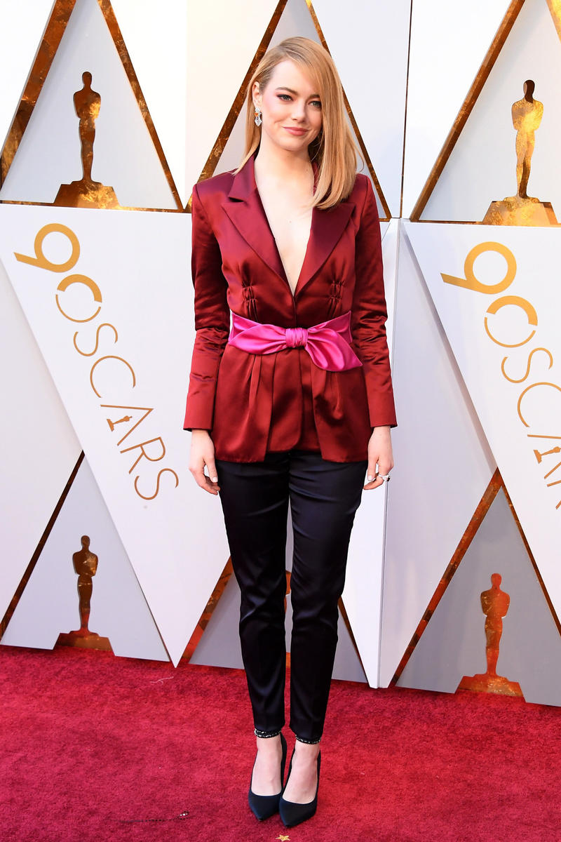 2018 Academy Awards Oscars Red Carpet Emma Stone