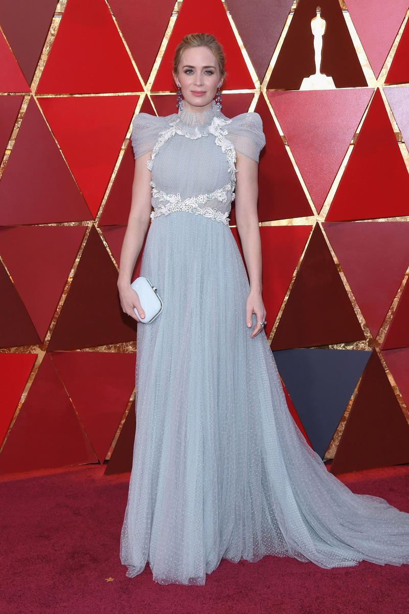 2018 Academy Awards Oscars Red Carpet Emily Blunt