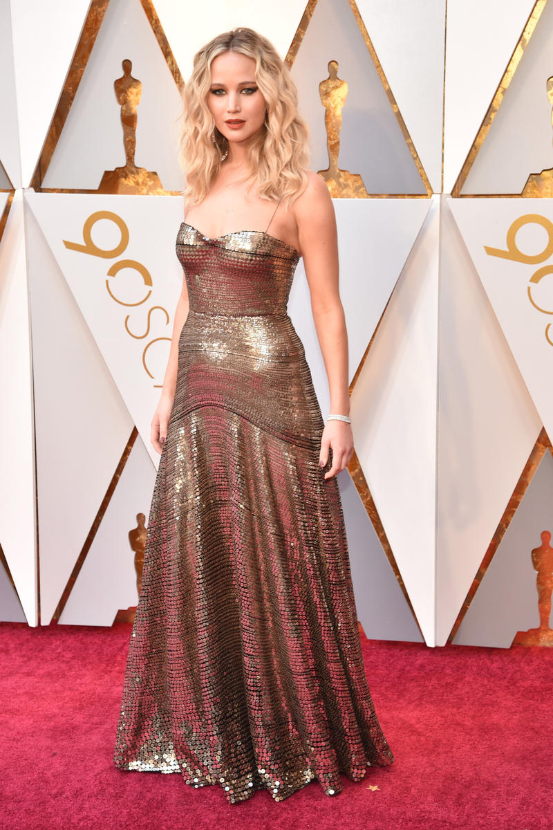 2018 Academy Awards Oscars Red Carpet Jennifer Lawrence