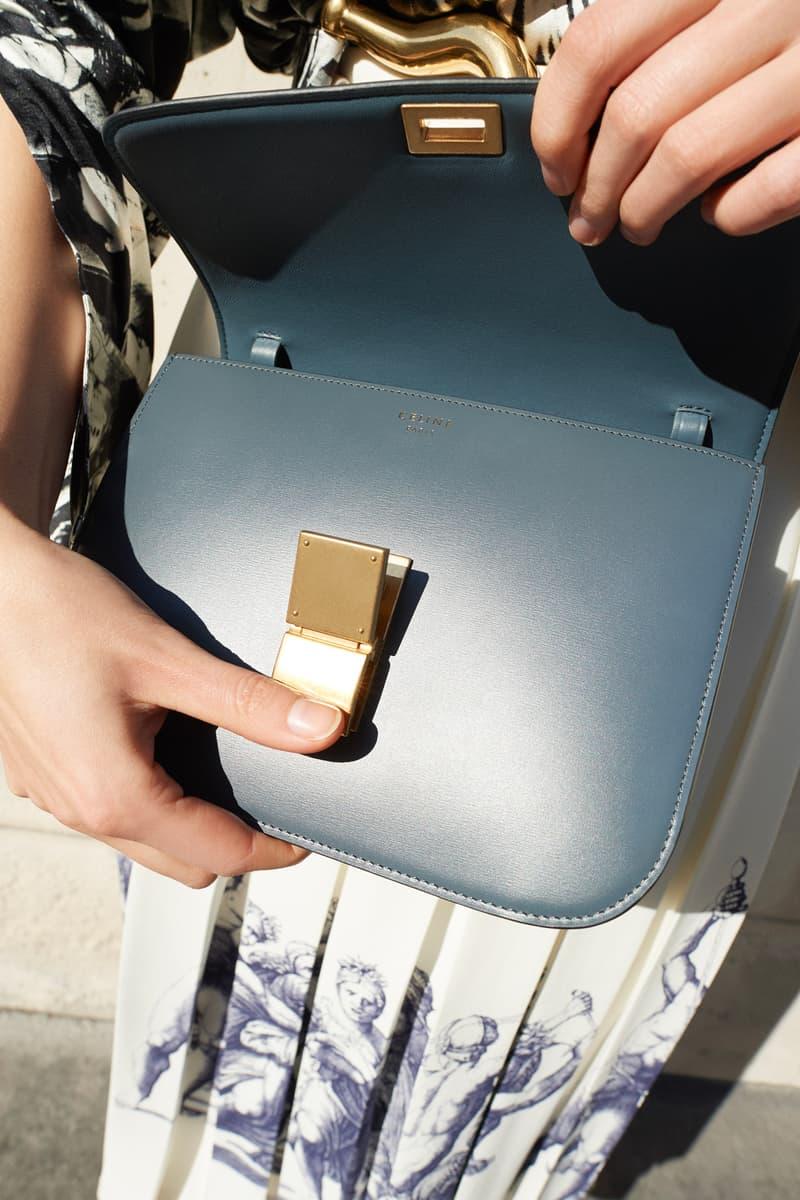 Celine E-Commerce Launch 24 Sevres Classic Bag Blue Gold