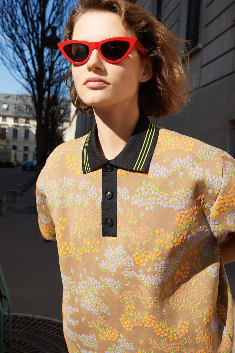 Celine E-Commerce Launch 24 Sevres Floral Polo Sweater Sunglasses Yellow Green Red