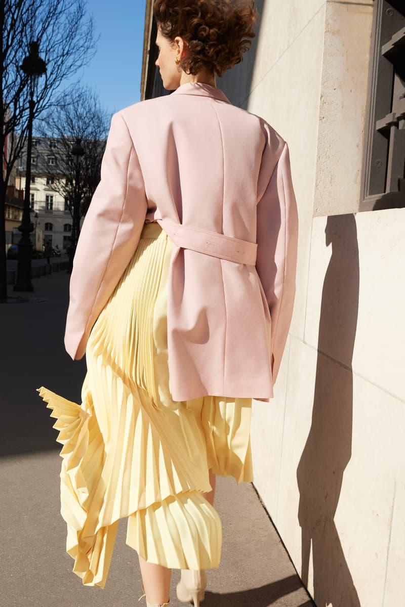 Celine E-Commerce Launch 24 Sevres Coat Skirt Pink Yellow