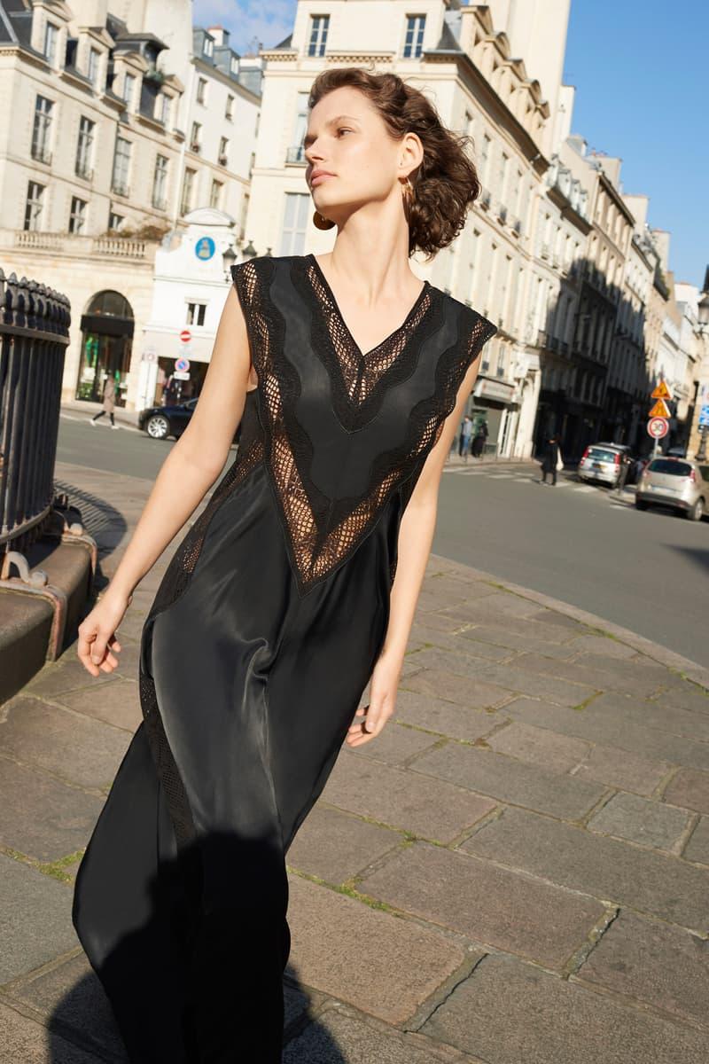 Celine E-Commerce Launch 24 Sevres Silk Dress Black
