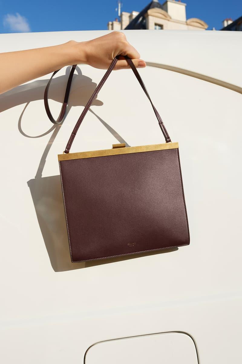 Celine E-Commerce Launch 24 Sevres Clasp Bag Burgundy Gold
