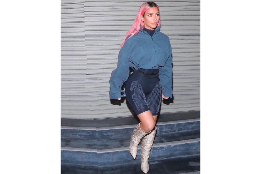 Kim Kardashian YEEZY Season 7 2XU Leggings Black Tokyo Japan Pink Hair