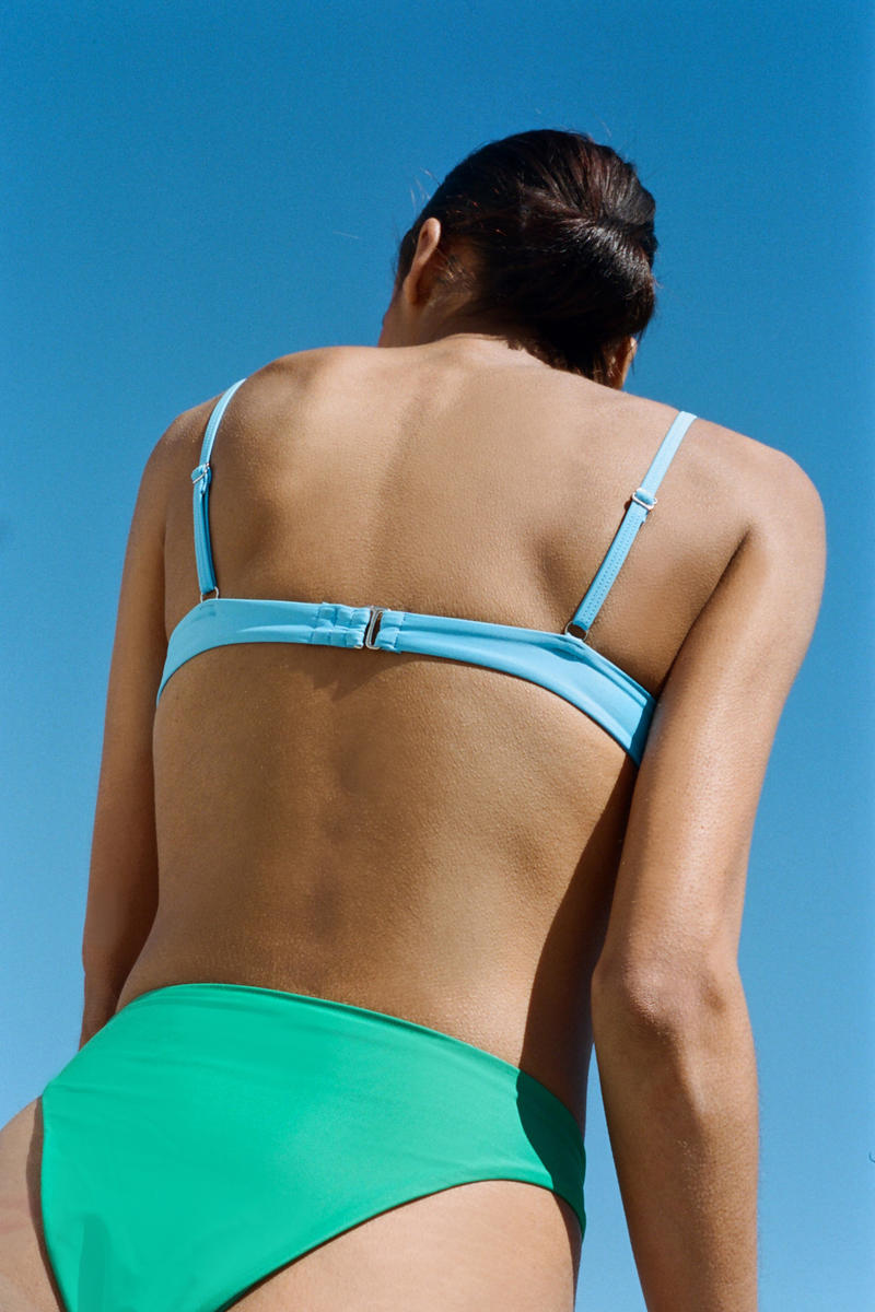 OOKIOH Minimal Swimwear From Recycled Materials Bikini Swimsuit UV Protection Environmentally Friendly
