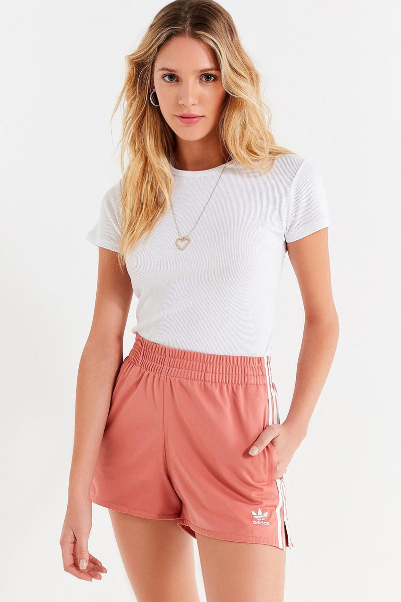 adidas originals adicolor rose pastel millennial pink shorts where to buy summer urban outfitters