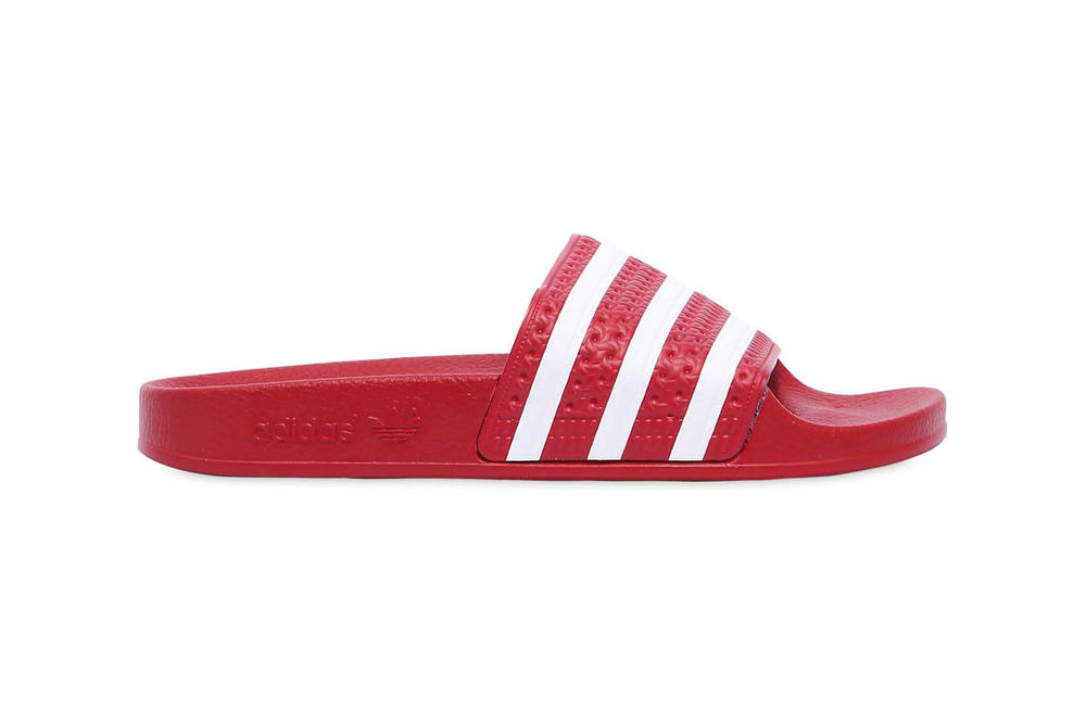 cfb307dcf560 adidas  adilette Slides Are Red Hot