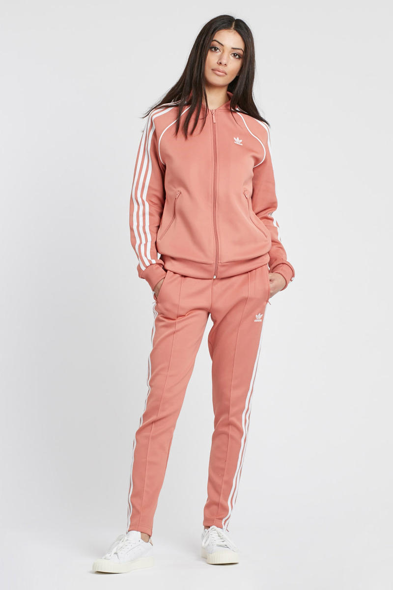 adidas Originals Dusky Ash Pink Track Pants logo trefoil pastel womens joggers where to buy set Sneakersnstuff