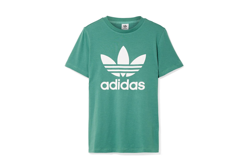 adidas Originals Trefoil Logo T-Shirt in Green White Retro Streetwear Staple Piece Sporty