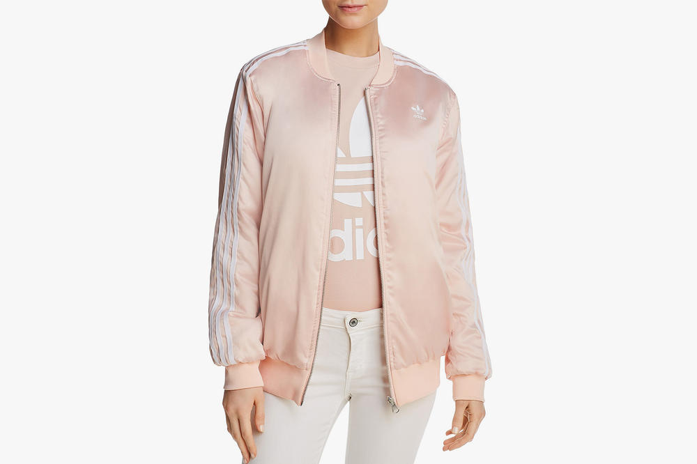 adidas Originals Reversible Floral Bomber Jacket Pink